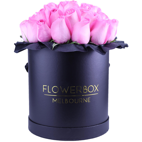 Pink Roses Flower Box Melbourne Same Day Delivery