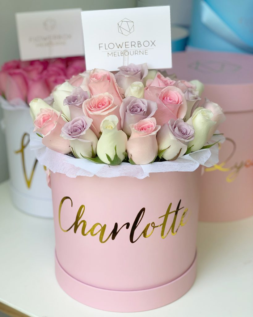 Personalised flower box Melbourne